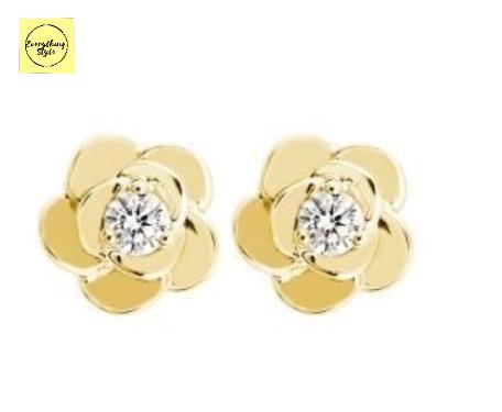 Latest Daily Wear Gold Stud Earring Designs15