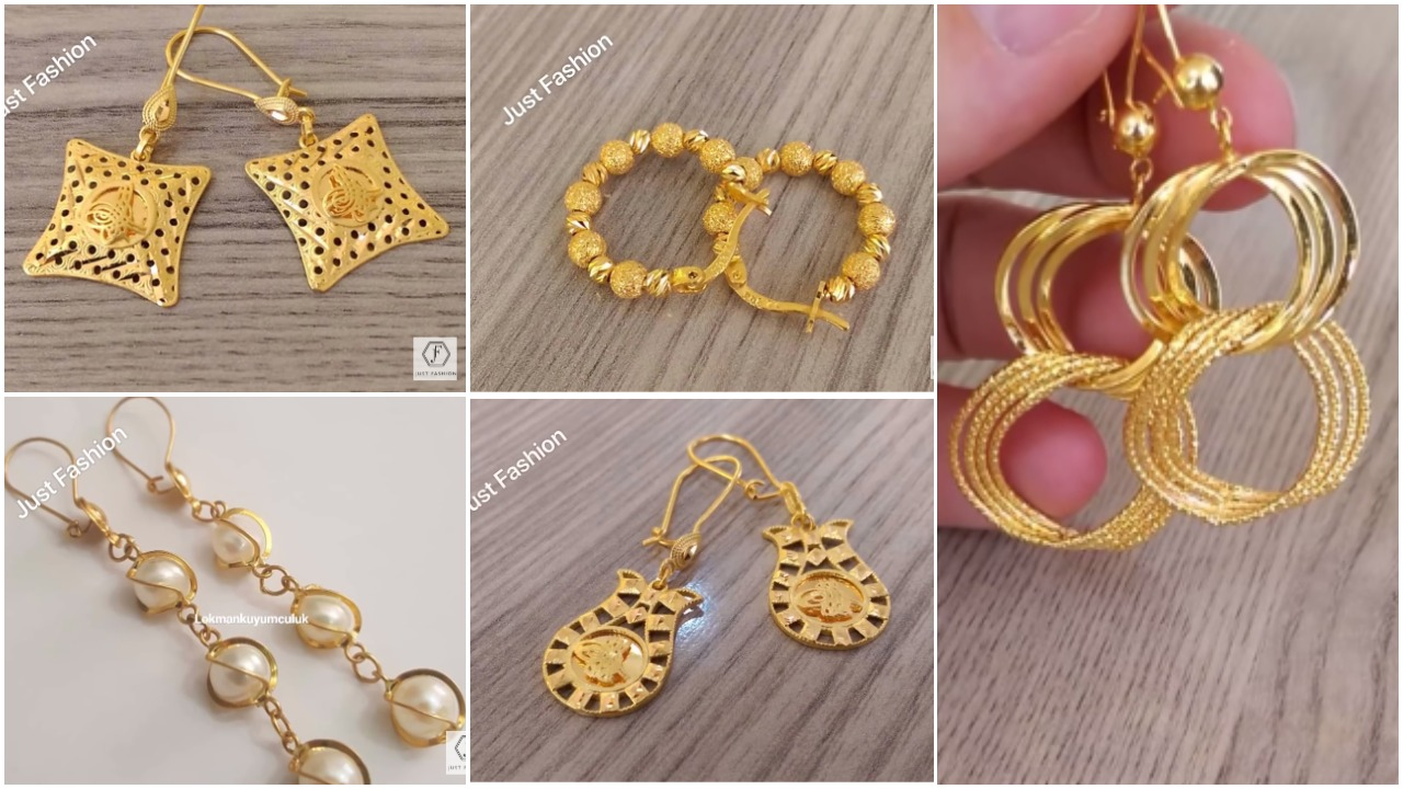Latest Designer Gold Earrings Designs