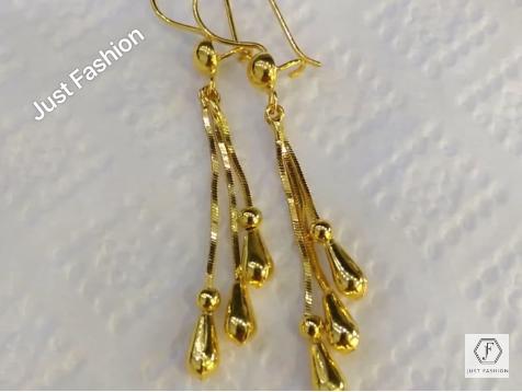 Latest Designer Gold Earrings Designs15