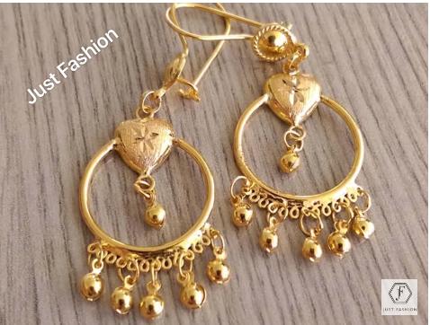 Latest Designer Gold Earrings Designs9