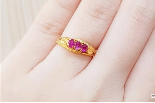 purple stone ring design