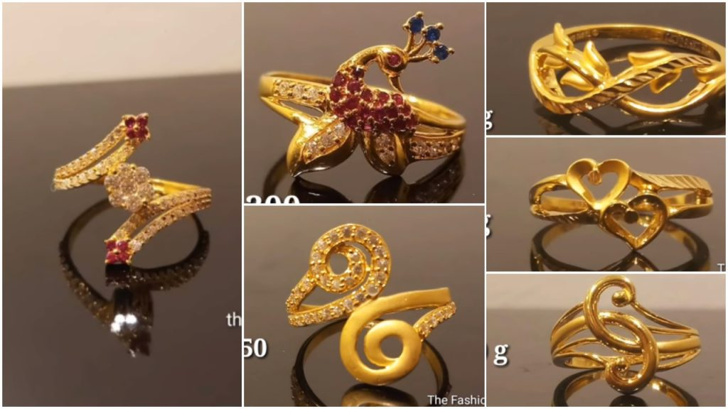 Latest Light Weight Gold Ring Designs