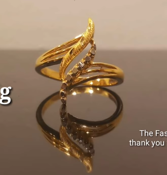 Latest Light Weight Gold Ring Designs12