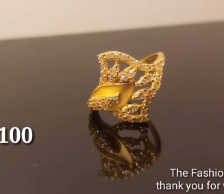 Latest Light Weight Gold Ring Designs15