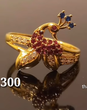 Latest Light Weight Gold Ring Designs5