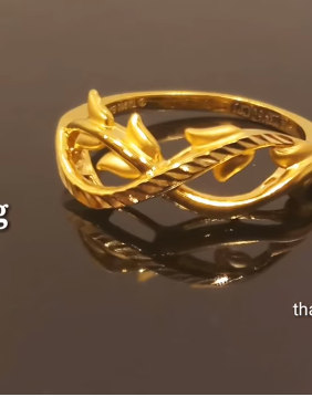 Latest Light Weight Gold Ring Designs6