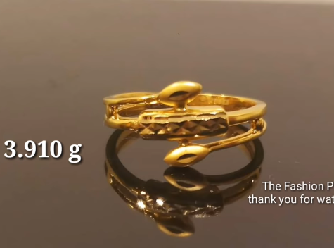Latest Light Weight Gold Ring Designs9