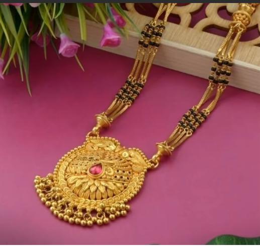 Latest Long Gold Mangalsutra Designs14