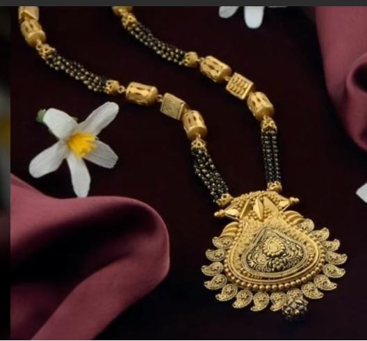 Latest Long Gold Mangalsutra Designs15