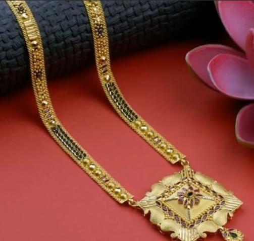 Latest Long Gold Mangalsutra Designs5