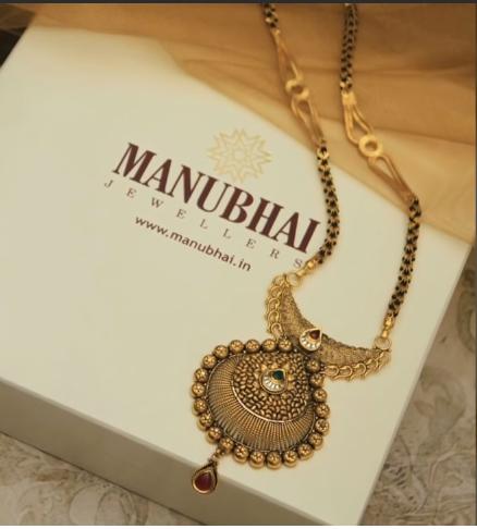 Latest Long Gold Mangalsutra Designs8