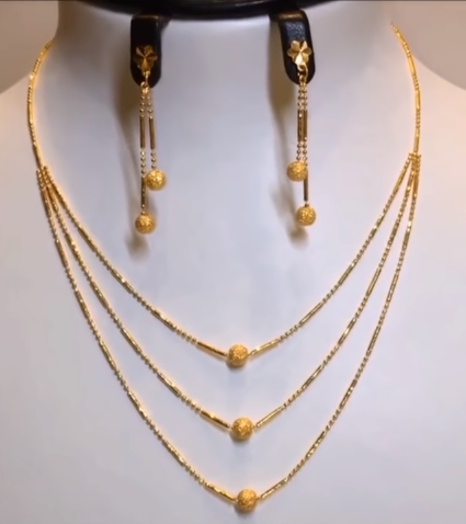 Light Weight Gold Necklace Sets1
