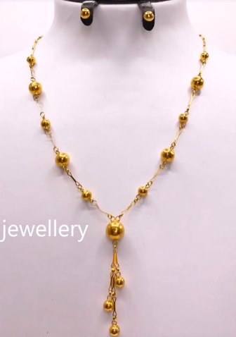 Light Weight Gold Necklace Sets6
