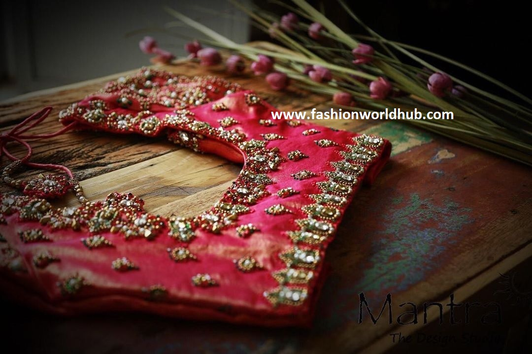 heavy work blouse design