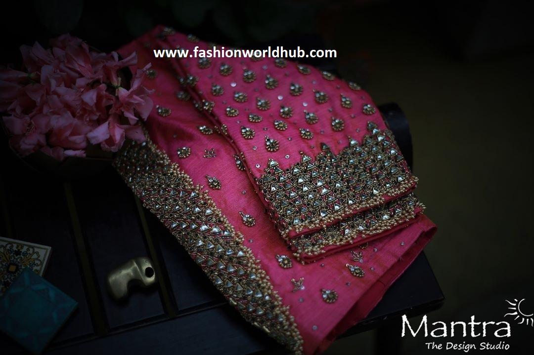 beautiful work blouse design