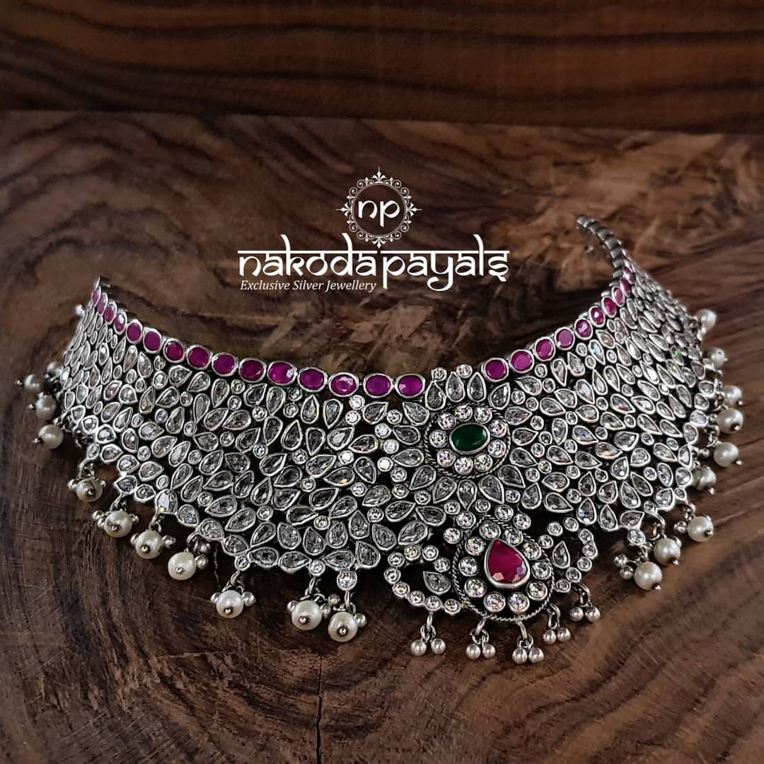 Mind Blowing Pure Silver Necklace Designs12