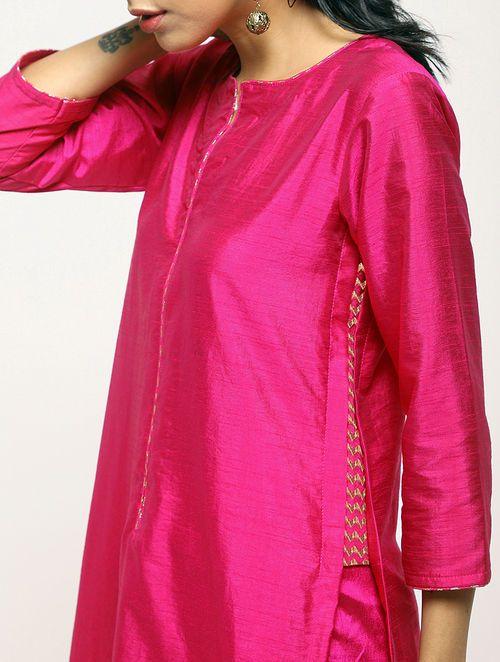 pink kurti design