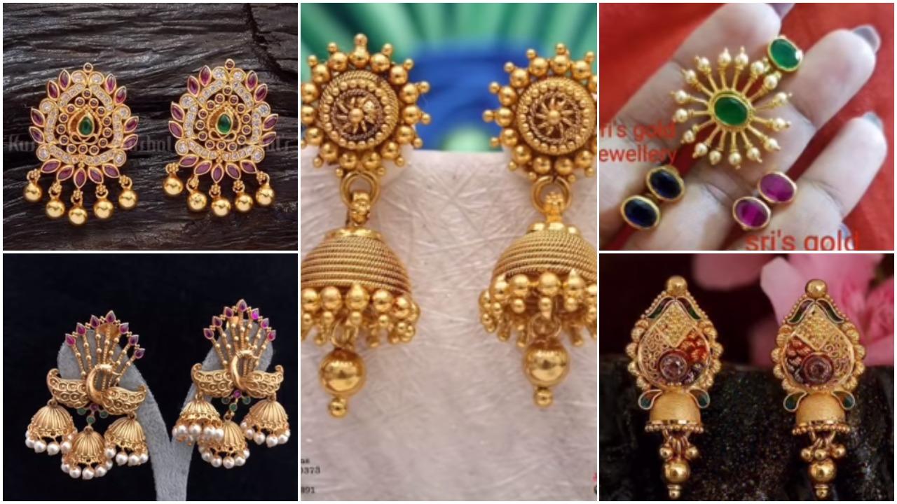 New Gold Daily Wear Earrings Patterns