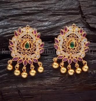 New Gold Daily Wear Earrings Patterns11