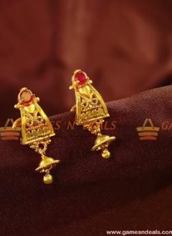 New Gold Daily Wear Earrings Patterns15