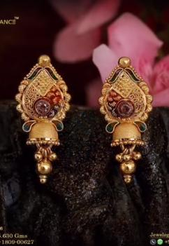 New Gold Daily Wear Earrings Patterns17
