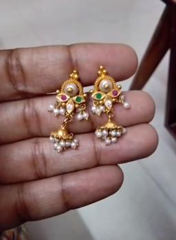 New Gold Daily Wear Earrings Patterns18