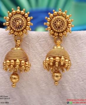 New Gold Daily Wear Earrings Patterns2