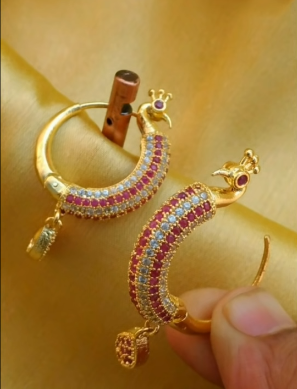 New Trendy Gold Hoops and Drop1