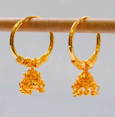 New Trendy Gold Hoops and Drop10