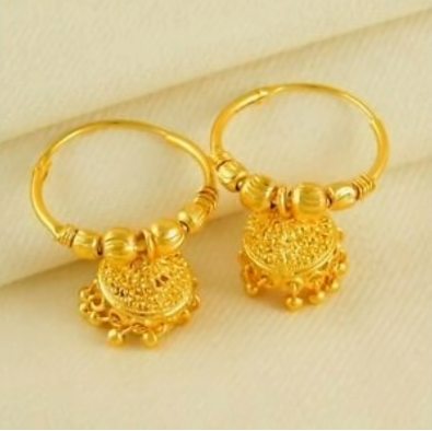 New Trendy Gold Hoops and Drop11