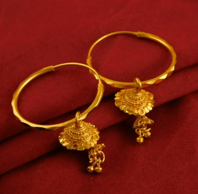 New Trendy Gold Hoops and Drop12
