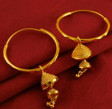 New Trendy Gold Hoops and Drop18