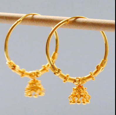 New Trendy Gold Hoops and Drop2