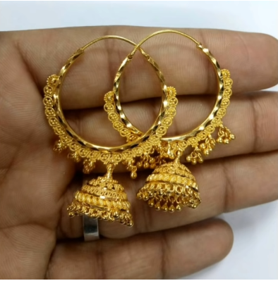 New Trendy Gold Hoops and Drop4