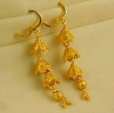 New Trendy Gold Hoops and Drop7