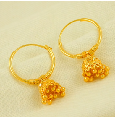 New Trendy Gold Hoops and Drop8
