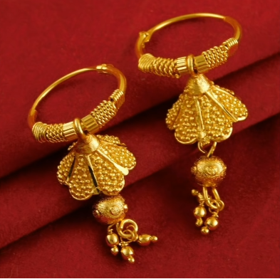 New Trendy Gold Hoops and Drop9