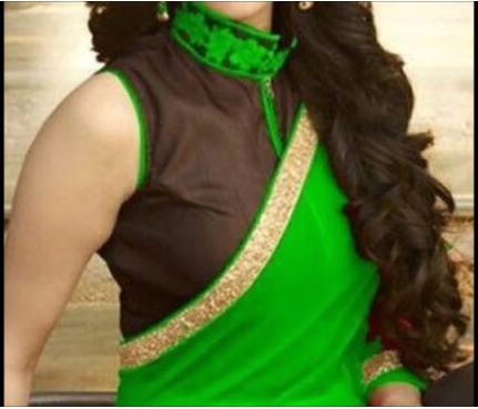 high neck collar sleeveless blouse