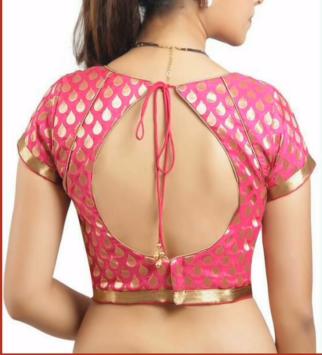 pink silk saree blouse