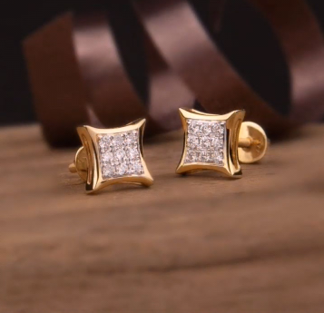 Top Stunning Light Weight Gold Stud Earrings12