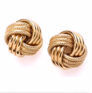Top Stunning Light Weight Gold Stud Earrings16