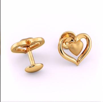 Top Stunning Light Weight Gold Stud Earrings18