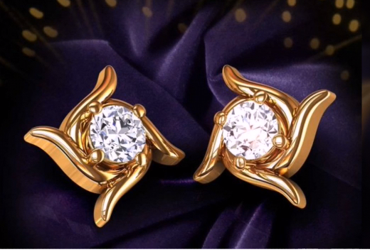 Top Stunning Light Weight Gold Stud Earrings22