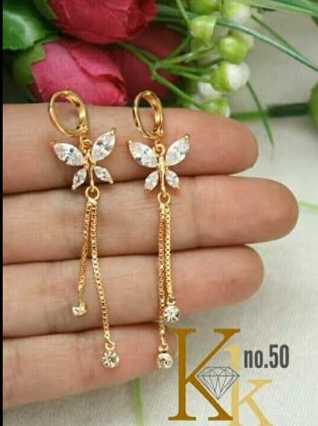 Trendy Gold Earring Designs11