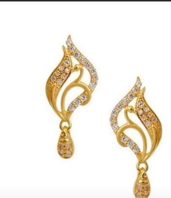 Trendy Gold Earring Designs20