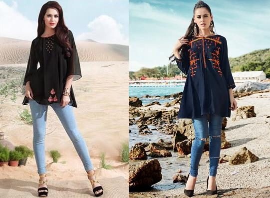 Indo-western Kurti with Jeans