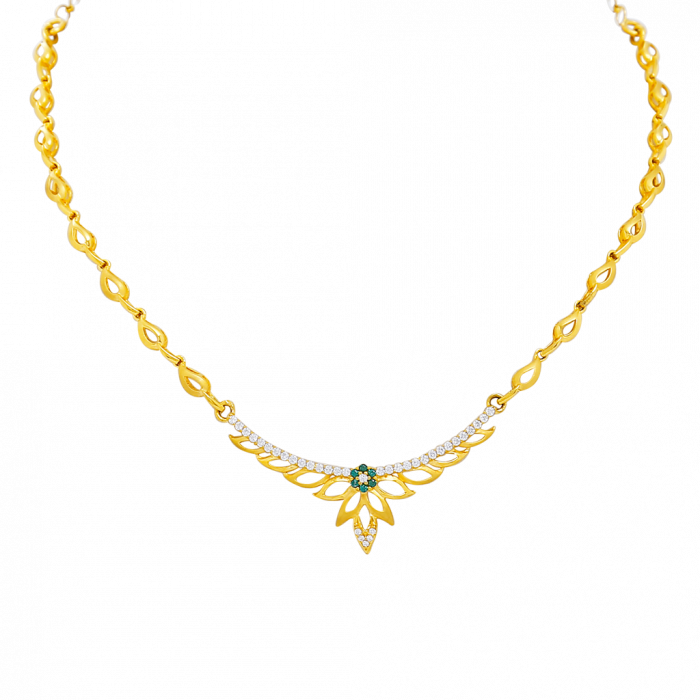 16 Gram Gold Necklace Collections10