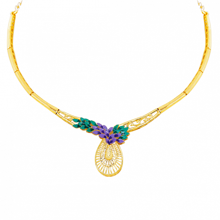 16 Gram Gold Necklace Collections11