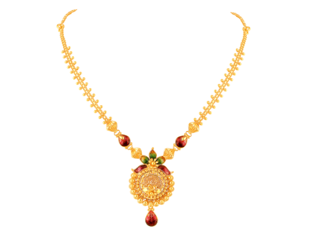 16 Gram Gold Necklace Collections5