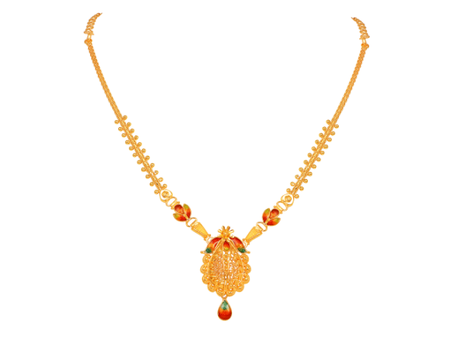 16 Gram Gold Necklace Collections8